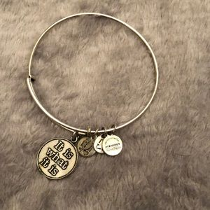 """It is what it is"" Alex & Ani Silver Bracelet"